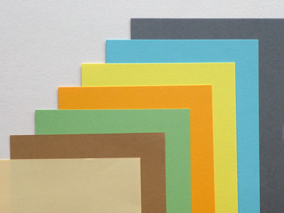 Calibrated sheets in different colours