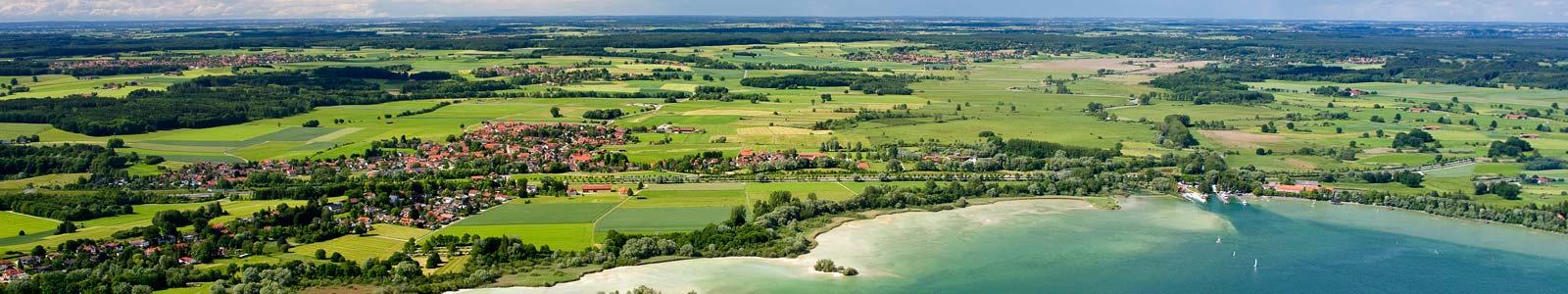 Luftbild Ammersee Nordufer mit Eching