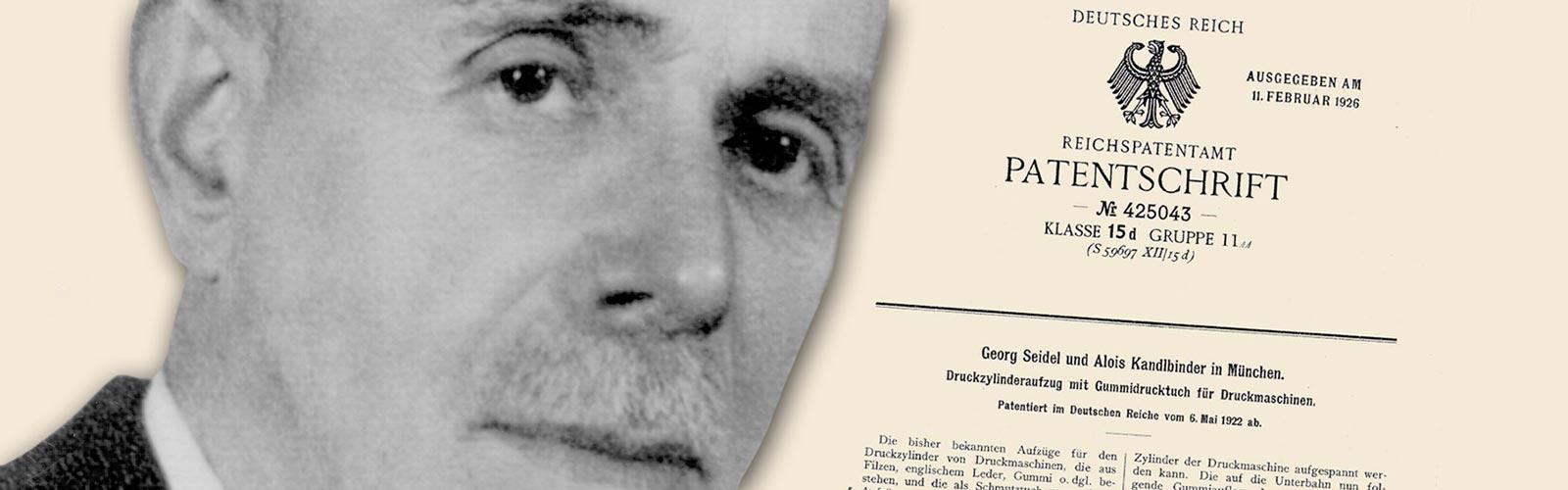 Alois Kandlbinder und sein Patent