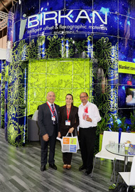 Impressions of the Drupa booth (4)