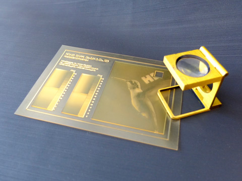 Flexo plate sample, polymer