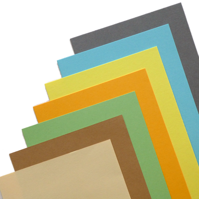 calibrated sheets in 10 different colours